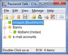 Скриншот 1 из 1 программы Password Safe
