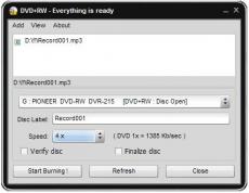 Скриншот 1 из 1 программы Soft4Boost Easy Disc Burner
