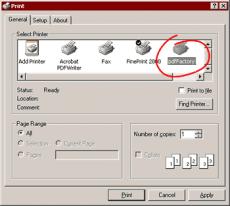 Скриншот 1 из 2 программы pdfFactory