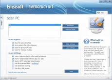 Скриншот 2 из 4 программы Emsisoft Emergency Kit