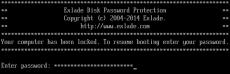 Скриншот 1 из 3 программы Disk Password Protection