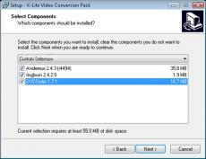 Скриншот 2 из 2 программы K-Lite Video Conversion Pack