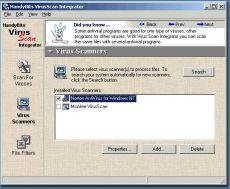 Скриншот 1 из 1 программы HandyBits VirusScan Integrator
