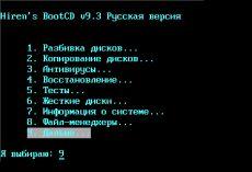 Скриншот 1 из 10 программы Hiren`s BootCD