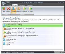 Скриншот 1 из 1 программы SafeSpace