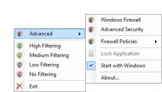 Скриншот 2 из 2 программы Windows Firewall Control