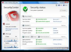 Скриншот 1 из 1 программы G Data AntiVirus