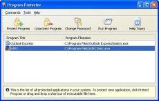 Скриншот 2 из 2 программы Program Protector