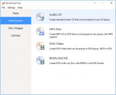 Скриншот 1 из 1 программы BurnAware