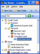 Скриншот 1 из 1 программы CodeWallet Pro 2006 Desktop Companion