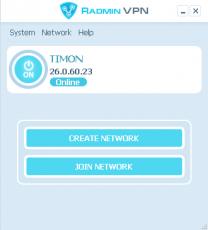 Скриншот 1 из 1 программы Radmin VPN