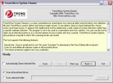 Скриншот 1 из 1 программы Trend Micro System Cleaner
