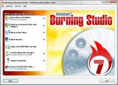 Скриншот 1 из 7 программы Ashampoo Burning Studio