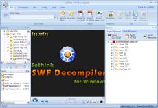 Скриншот 2 из 6 программы Sothink SWF Decompiler