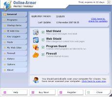 Скриншот 1 из 1 программы Online Armor