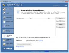 Скриншот 6 из 6 программы Total Privacy