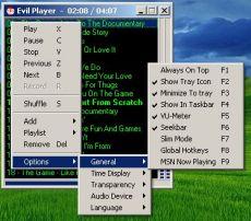 Скриншот 1 из 2 программы Evil Player
