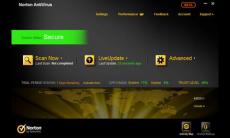Скриншот 1 из 1 программы Norton AntiVirus