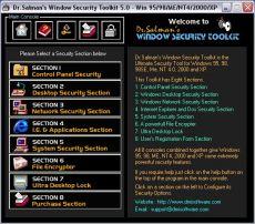 Скриншот 1 из 1 программы Dr.Salman's Window Security Toolkit