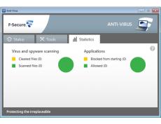 Скриншот 1 из 2 программы F-Secure Antivirus