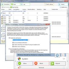 Скриншот 1 из 1 программы Windows Firewall Notifier