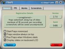 Скриншот 1 из 2 программы Fraps