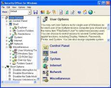 Скриншот 1 из 2 программы Windows Security Officer