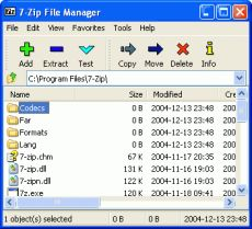 Скриншот 2 из 2 программы 7-Zip