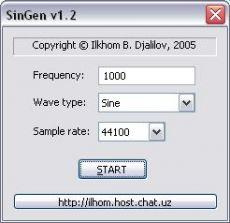 Скриншот 1 из 1 программы SinGen