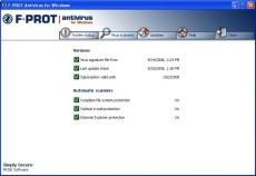 Скриншот 1 из 1 программы F-Prot Antivirus