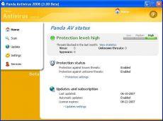 Скриншот 1 из 1 программы Panda Antivirus 2009