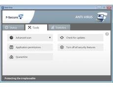 Скриншот 2 из 2 программы F-Secure Antivirus