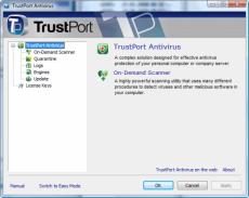 Скриншот 1 из 1 программы TrustPort Antivirus USB