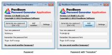 Скриншот 1 из 1 программы PassBoom Password Generator Application
