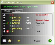 Скриншот 1 из 1 программы CD-DVD Lock