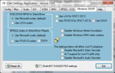 Скриншот 1 из 1 программы STANDARD Codecs